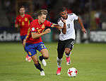 Germany's Serge Gnabry tussles with Spain's Marcos Llorente during the UEFA Under 21 Final at the Stadion Cracovia in Krakow. Picture date 30th June 2017. Picture credit should read: David Klein/Sportimage