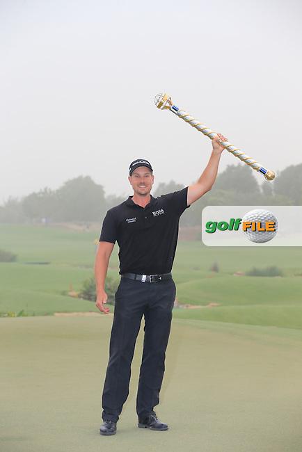 Henrik STENSON (SWE) after winning the DP World, Tour Championship, Dubai, UAE.<br /> Picture: Fran Caffrey www.golffile.ie