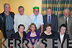 Golfers - Having a wonderful time at the Kilmoyley Golf Society's Annual Xmas Dinner held in Harty's Bar & Restaurant on Saturday night were seated l/r Mary Doherty, Tess Meehan, Fionula Murnane and Mary O'Connell, standing l/r Barney O'Connell, Neil Doherty, Eddie Meehan, Sean ~Murnane and Billy O'Connell....................................................................... ............   Copyright Kerry's Eye 2008