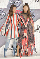 LOS ANGELES, CA - JUNE 26: Chole x Halle at the 2016 BET Awards at the Microsoft Theater on June 26, 2016 in Los Angeles, California. Credit: Koi Sojer/MediaPunch