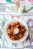 EXUMA, Bahamas. Conch Fritters at the Staniel Cay Yacht Club in Staniel Cay.
