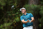 CHAPEL HILL, NC - OCTOBER 07: UNCW's Blake McShea on the 3rd tee. The second round of the Tar Heel Intercollegiate Men's Golf Tournament was held on October 7, 2017, at the UNC Finley Golf Course in Chapel Hill, NC.