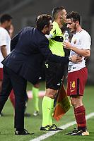 Milano 01-10-2017 Stadio Meazza San Siro Football Calcio 2017/2018 Serie A Milan - Roma foto Matteo Gribaudi/Image Sport/Insidefoto <br /> nella foto: Eusebio Di Francesco-Alessandro Florenzi