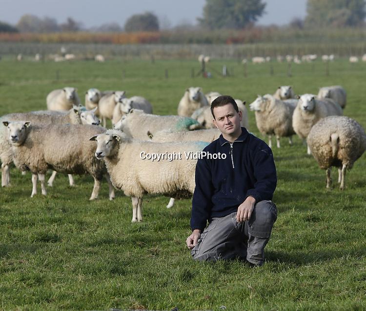 Foto: VidiPhoto<br /> <br /> LIENDEN &ndash; Schapenhouder Henk de Kat uit Lienden tussen zijn schapen. Samen met nog andere schapenhouders verkoopt hij het streekproduct Polderlam.