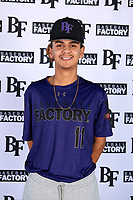 Christian Perez (11) of Pasadena High School in Pasadena, California during the Baseball Factory All-America Pre-Season Tournament, powered by Under Armour, on January 12, 2018 at Sloan Park Complex in Mesa, Arizona.  (Mike Janes/Four Seam Images)