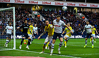 Preston North End's Jordan Storey battles with Leeds United's Pontus Jansson<br /> <br /> Photographer Alex Dodd/CameraSport<br /> <br /> The EFL Sky Bet Championship - Preston North End v Leeds United -Tuesday 9th April 2019 - Deepdale Stadium - Preston<br /> <br /> World Copyright &copy; 2019 CameraSport. All rights reserved. 43 Linden Ave. Countesthorpe. Leicester. England. LE8 5PG - Tel: +44 (0) 116 277 4147 - admin@camerasport.com - www.camerasport.com
