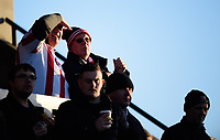 Lincoln City fans enjoy the pre-match atmosphere<br /> <br /> Photographer Chris Vaughan/CameraSport<br /> <br /> The EFL Sky Bet League Two - Lincoln City v Port Vale - Tuesday 1st January 2019 - Sincil Bank - Lincoln<br /> <br /> World Copyright © 2019 CameraSport. All rights reserved. 43 Linden Ave. Countesthorpe. Leicester. England. LE8 5PG - Tel: +44 (0) 116 277 4147 - admin@camerasport.com - www.camerasport.com