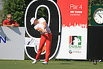 Jamie Donaldson tees off on the 9th tee during Day 1 of the Dubai World Championship, Earth Course, Jumeirah Golf Estates, Dubai, 25th November 2010..(Picture Eoin Clarke/www.golffile.ie)