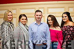 L-R Sandra O'Connor, Karen Mangan, Dan Kearney, Tina Mangan and Aine Sheehan at  a special function for Lorraine Scanlon, last Saturday night in the RiverIsland hotel, Castleisland.