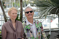 "Tilda Swinton and Bill Murray attending the ""Moonrise Kingdom"" Photocall during the 65th annual International Cannes Film Festival in Cannes, 16th May 2012...Credit: Timm/face to face /MediaPunch Inc. ***FOR USA ONLY***"