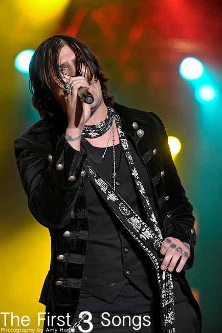 Austin Winkler of Hinder performs during day two of the 2011 Rock Fest on July 15, 2011 in Cadott, Wisconsin.