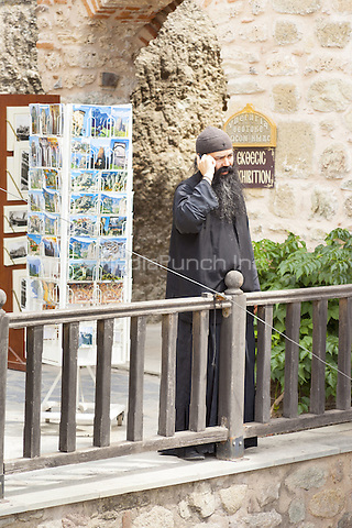 Monk at the Holy Monastery of Varlaam, Meteora, Thessaly, Greece <br /> CAP/MEL<br /> &copy;MEL/Capital Pictures /MediaPunch ***NORTH AND SOUTH AMERICA ONLY***