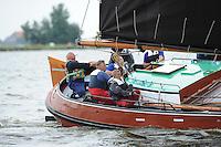 SKUTSJESILEN: WOUDSEND: Hegemer Mar, 06-08-2012, SKS skûtsjesilen, wedstrijd Woudsend, skûtsje d'Halve Maen, schipper Berend Mink, ©foto Martin de Jong