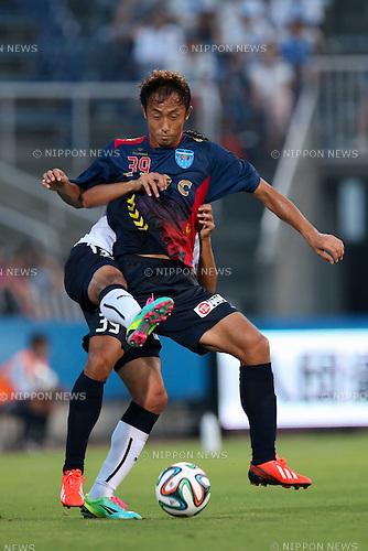 Park Sung Ho (Yokohama FC), <br /> JULY 26, 2014 - Football /Soccer : <br /> 2014 J.LEAGUE Division 2 <br /> between Yokohama FC 4-0 Jubilo Iwata <br /> at NHK Spring Mitsuzawa Football Stadium, Kanagawa, Japan. <br /> (Photo by AFLO SPORT) [1205]