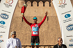 Race leader Alexey Lutsenko (KAZ) Astana Pro Team wins Stage 5 his 3rd stage win of the 10th Tour of Oman 2019, running 152km from Samayil to Jabal Al Akhdhar (Green Mountain), Oman. 20th February 2019.<br /> Picture: ASO/K&aring;re Dehlie Thorstad | Cyclefile<br /> All photos usage must carry mandatory copyright credit (&copy; Cyclefile | ASO/K&aring;re Dehlie Thorstad)