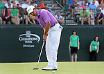 DES MOINES, IA - JUNE 1: Tom Pernice Jr. sinks his biride putt on the first hole of a sudden death playoff to win the Principal Charity Classic at the Wakonda Club on June 1, 2014 in Des Moines, Iowa. (Photo by Steve Dykes/Getty Images) *** Local Caption *** Tom Pernice Jr.