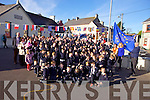 MEP Sean Kelly was on hand to help raise the Blue Flag at St Mary' school, Knocknagoshel on Friday afternoon.