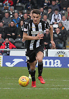 Kyle Magennis in the St Mirren v Livingston Scottish Professional Football League Ladbrokes Championship match played at the Paisley 2021 Stadium, Paisley on 14.4.18.