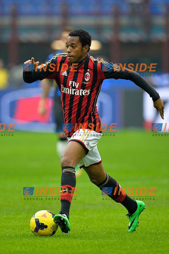 Robinho Milan <br /> Milano 06-01-2014 Stadio Giuseppe Meazza - Football Calcio Serie A 2013/2014 Milan - Atalanta Foto Andrea Staccioli / Insidefoto