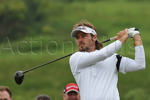 05.06.2011 Victor Dubuisson (FRA) in action during round 4 of the  Saab Wales Open Golf Championship from Celtic Manor on the Twenty Ten Course in Newport Gwent Wales.
