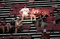NWA Democrat-Gazette/CHARLIE KAIJO Arkansas Razorbacks fans watch the fourth quarter of a football game, Saturday, September 15, 2018 at Donald W. Reynolds Razorback Stadium in Fayetteville.