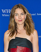 Michelle Monaghan arrives for the 2015 White House Correspondents Association Annual Dinner at the Washington Hilton Hotel on Saturday, April 25, 2015.<br /> Credit: Ron Sachs / CNP