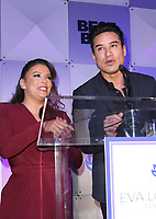 LOS ANGELES, CA - NOVEMBER 8: Gina Rodriguez, Mario Lopez, at the Eva Longoria Foundation Dinner Gala honoring Zoe Saldana and Gina Rodriguez at The Four Seasons Beverly Hills in Los Angeles, California on November 8, 2018. Credit: Faye Sadou/MediaPunch
