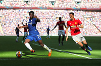 Tiemoue Bakayoko of Chelsea and Nemanja Matic of Manchester United during the FA Cup final match between Chelsea v Manchester United played at Wembley Stadium, London, United Kingdom on 19 May 2018