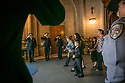 The family of pilot Jeff Burke files out of Duke Chapel after a memorial service for the three Duke LifeFlight team members and patient who died in a helicopter crash on September 8. RN flight nurses Kris Harrison and Crystal Sollinger, pilot Jeff Burke, were transporting and treating patient Mary Bartlett, 70, when the LifeFlight helicopter crashed.