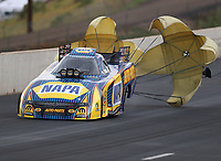 Jul 22, 2018; Morrison, CO, USA; NHRA funny car driver Ron Capps during the Mile High Nationals at Bandimere Speedway. Mandatory Credit: Mark J. Rebilas-USA TODAY Sports