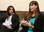 Bridgette Denison, left, and Jayann Sepich talk at the Legislative Building in Carson City, Nev., on Wednesday, March 13, 2013. The women are urging lawmakers to support a measure that would require suspects arrested for a felony to submit a DNA sample. The Nevada law is commonly referred to as Brianna's Law, named after Denison's daughter Brianna who was murdered in Reno, Nev. in 2008. Sepich's daughter Katie was murdered in New Mexico in 2003. (AP Photo/Cathleen Allison)