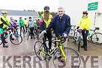 Mick O'Dwyer and Tony Dunne at the John O'Shea Memorial Cycle in Dromid on Sunday.