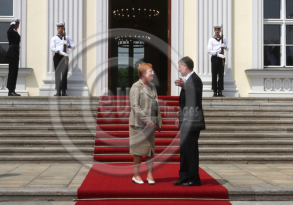 BERLIN - GERMANY 20.  JUNE 2006 -- Finnish President visiting the President of the Federal Republic of Germany,  Horst KOHLER -- PHOTO: UFFE NOEJGAARD / EUP-IMAGES