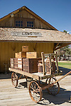 Old railroad depot, Collections at the Laws Museum, Inyo County, Calif.