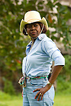Lorna Golding wife of Jamaica Prime Minister Bruce Golding  in horseback riding attire during filming of the Jamaica Tour for We TV.