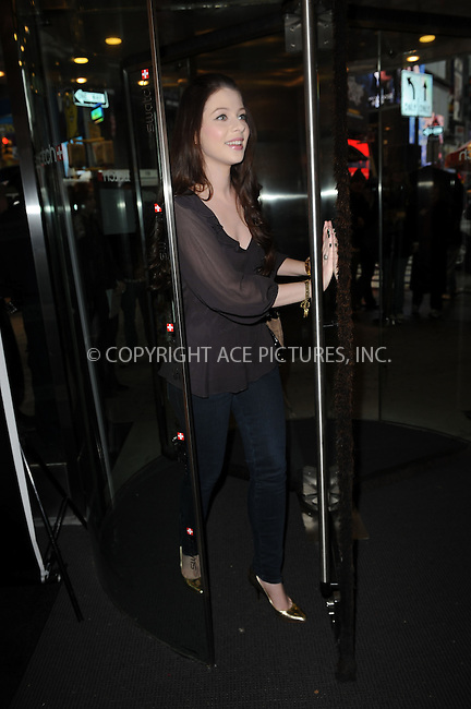 WWW.ACEPIXS.COM . . . . . ....November 12 2009, New York City....Actress Michelle Trachtenberg at the Swatch re-launch at the Swatch Store in Times Square on November 12, 2009 in New York City.....Please byline: KRISTIN CALLAHAN - ACEPIXS.COM.. . . . . . ..Ace Pictures, Inc:  ..(212) 243-8787 or (646) 679 0430..e-mail: picturedesk@acepixs.com..web: http://www.acepixs.com