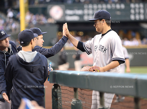 Masahiro Tanaka (Yankees), JUNE 11, 2014 - MLB : Masahiro Tanaka of the New York Yankees during the Major League Baseball game against the Seattle Mariners at Safeco Field in Seattle, Washington, United States. (Photo by AFLO)