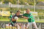 Sean O'Sulleabhain Colaiste na Sceilige stops Ian O'Callaghan Colaiste Chrois Ri in Killarney on Wednesday