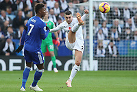 Burnley's Matthew Lowton and Leicester City's Demarai Gray<br /> <br /> Photographer Rachel Holborn/CameraSport<br /> <br /> The Premier League - Saturday 10th November 2018 - Leicester City v Burnley - King Power Stadium - Leicester<br /> <br /> World Copyright &copy; 2018 CameraSport. All rights reserved. 43 Linden Ave. Countesthorpe. Leicester. England. LE8 5PG - Tel: +44 (0) 116 277 4147 - admin@camerasport.com - www.camerasport.com