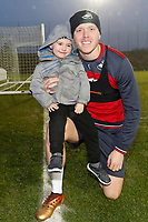 Harvey Doke meets Alfie Mawson at The Fairwood Training Ground, Swansea, Wales, UK. Wednesday 20 December 2017