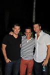 Days of Our Lives Eric Martsolf poses with Young and Restless Jeff Branson & Christian LeBlanc at SoapFest's Celebrity Weekend -  A Night of Stars - a VIP event with dinner, autographs, photos, silent and live auction on November 10, 2012 at Bistro Soleil at Old Historic Marco Inn (Photo by Sue Coflin/Max Photos)