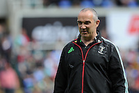 Conor O'Shea, Harlequins Director of Rugby, during the Aviva Premiership match between London Irish and Harlequins at the Madejski Stadium on Sunday 1st May 2016 (Photo: Rob Munro/Stewart Communications)