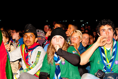Scouts from Uruguay doing the Plob during the opening ceremony