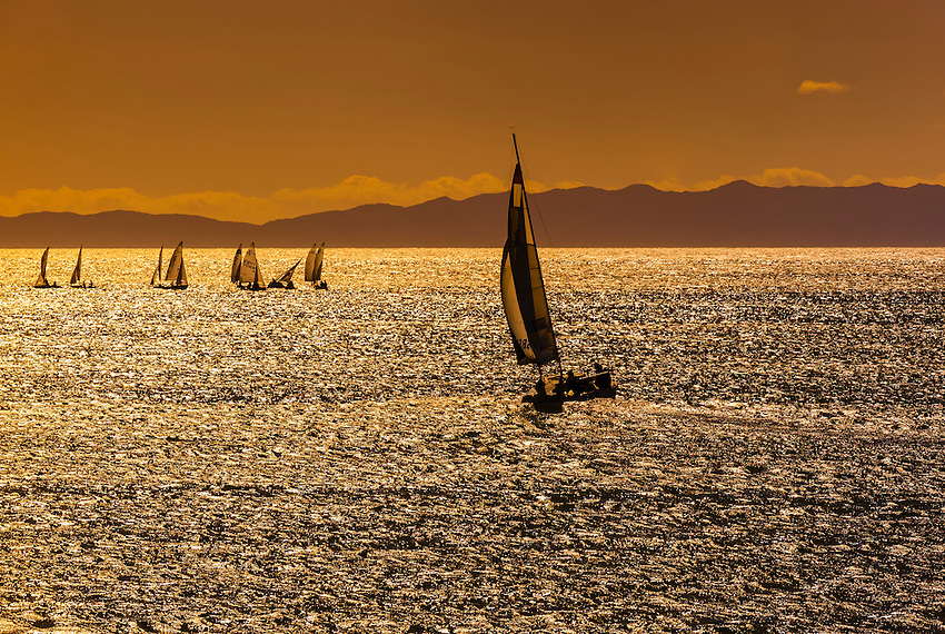 Sailboats, Santa Barbara, California USA.