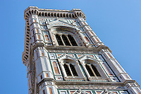 Looking up the Campanile at the Duomo in Florence