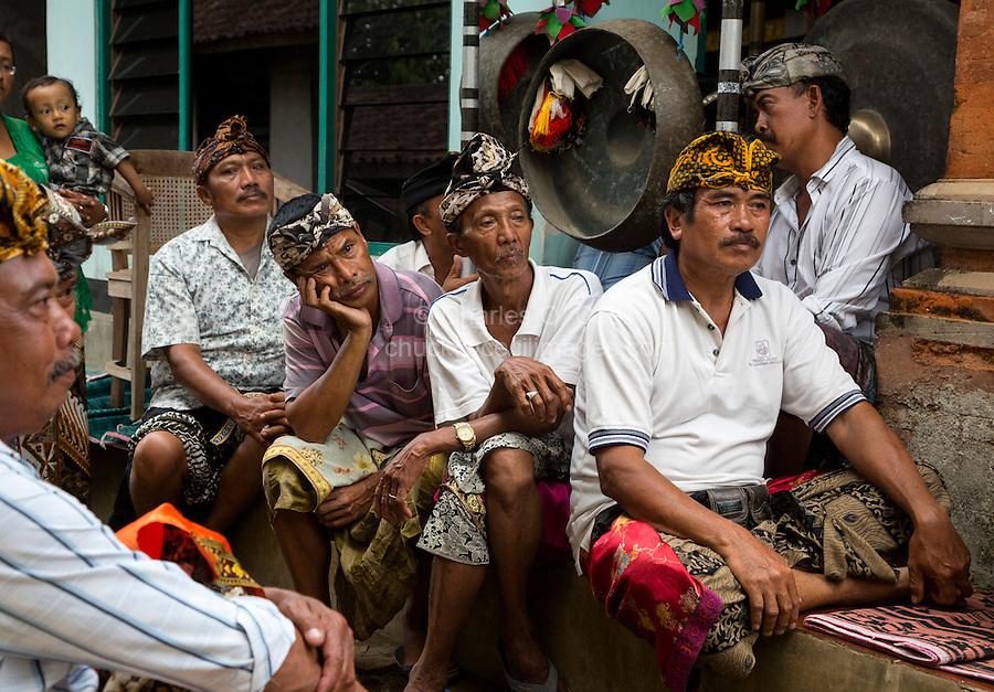 Bali Indonesia Hindu Religious Ceremonies People And
