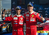 James Calado (GBR), Alessandro Pier Guidi (ITA) of AF CORSE (ITA) during the 2018 Silverstone - FIA World Endurance Championship at Silverstone Circuit, Towcester, England on 19 August 2018. Photo by Vince  Mignott.