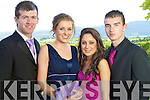 Pictured at Presentation secondary school Tralee Debs at the Ballyroe Heights hotel on Thursday night were Robert Birdsall, Sarah Boyle, Laura Dillane and Seamus Bastible.