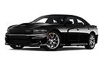 Stock pictures of low aggressive front three quarter view of 2019 Dodge Charger GT 4 Door Sedan Low Aggressive