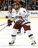 Joe Rooney (Boston College - Canton, MA) - The Boston College Eagles defeated the Harvard University Crimson 3-1 in the first round of the 2007 Beanpot Tournament on Monday, February 5, 2007, at the TD Banknorth Garden in Boston, Massachusetts.  The first Beanpot Tournament was played in December 1952 with the scheduling moved to the first two Mondays of February in its sixth year.  The tournament is played between Boston College, Boston University, Harvard University and Northeastern University with the first round matchups alternating each year.